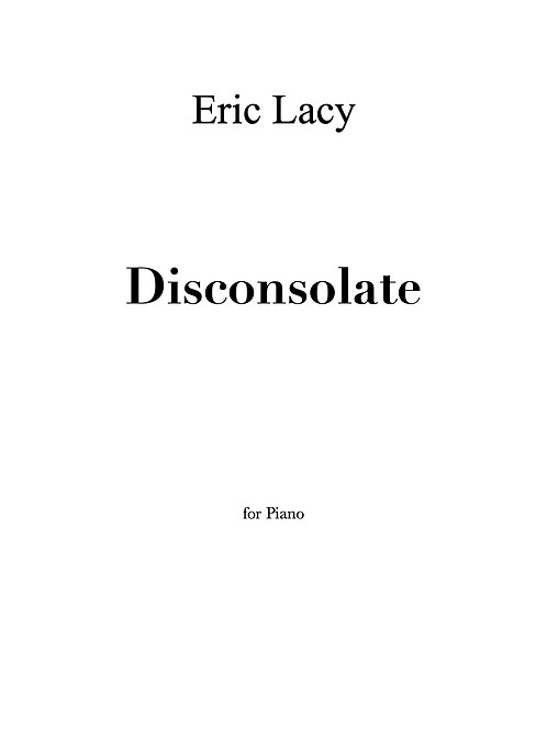 Disconsolate