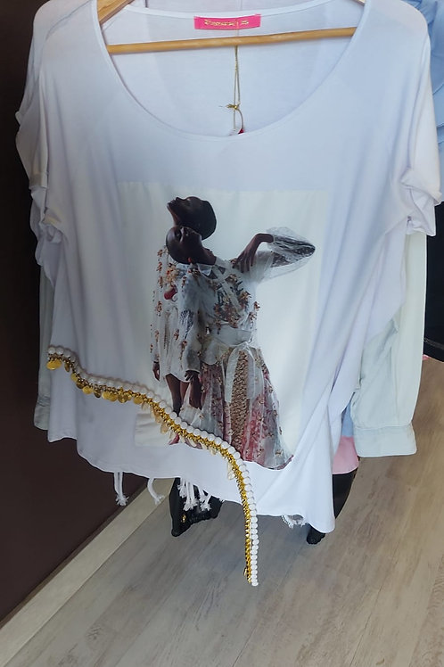 Camiseta oversize caden