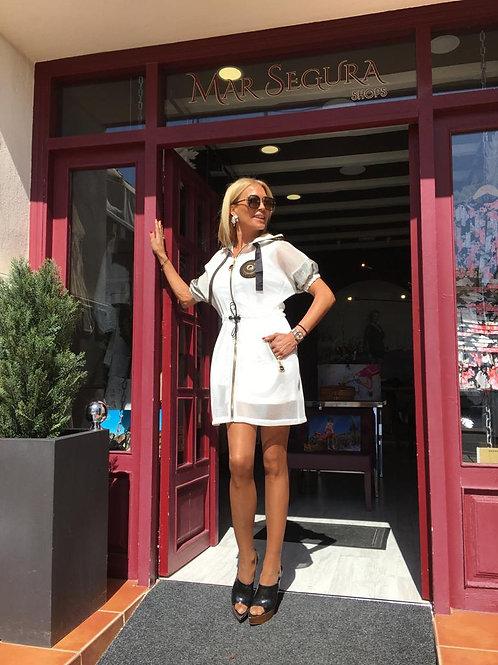 Vestido blanco mall