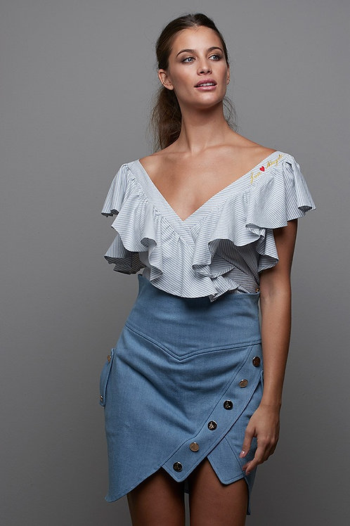 MINI FALDA DENIM