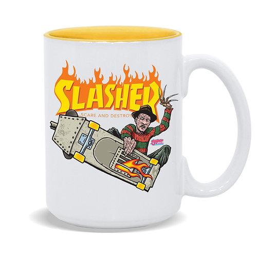 Slasher Frontside Freddy 15oz Coffee Mug