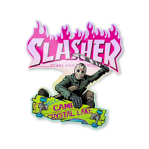 "Slasher Jason 3"" Holographic Sticker"