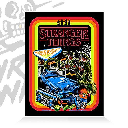 Stranger Things Poster- Flocked