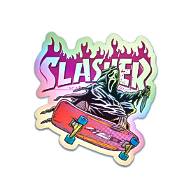 "Slasher Ghostface 3"" Holographic Sticker"