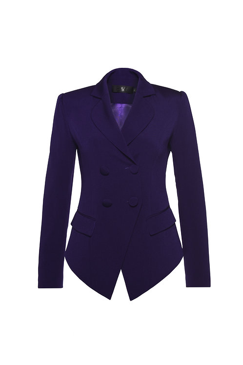 ASYMETRICAL HEM DETAILED DOUBLE BREASTED JACKET