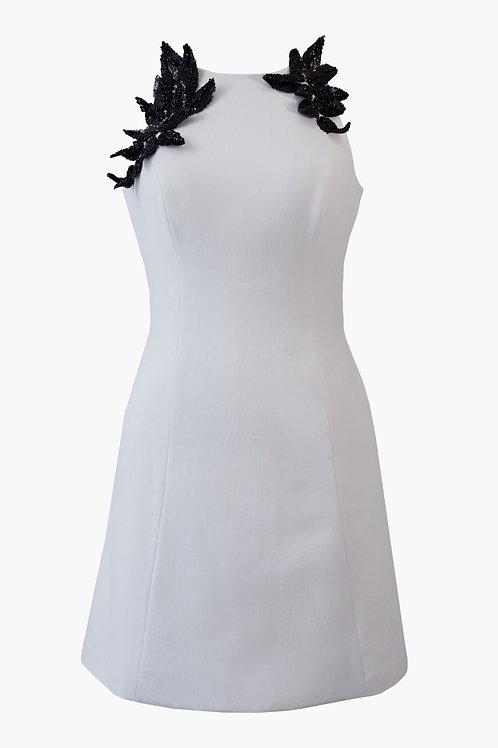 HAND-BEADED MINI DRESS
