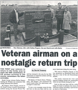 Visit to Deenethorpe April '92