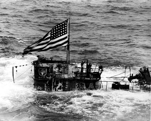 U-505 with American ensign