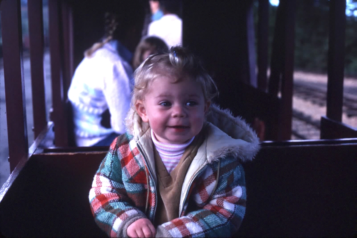 Beckie on Tilden park train spring 1980.