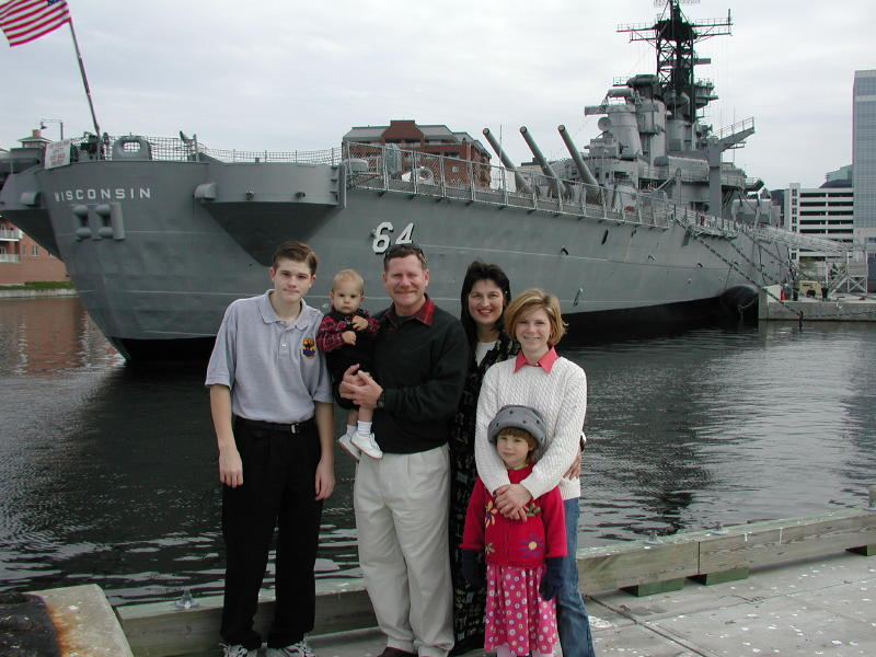 Rogers Family at battleship Wisconsin on
