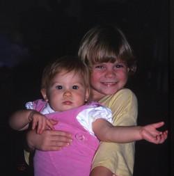 Beckie and Christie around Christmas 198