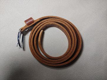 Groppone leather waist belt for women