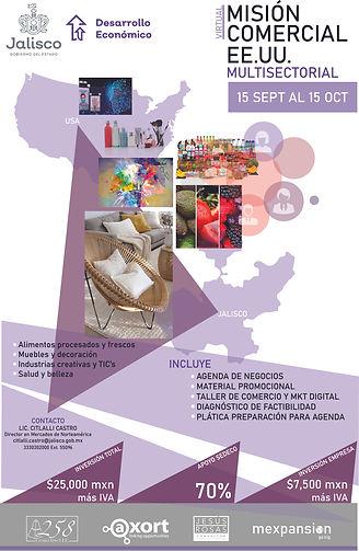 Cartel Misión Comercial USA Jalisco 2021