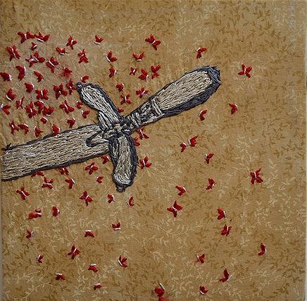 Alegoría de un martirio II-bordado- 20x