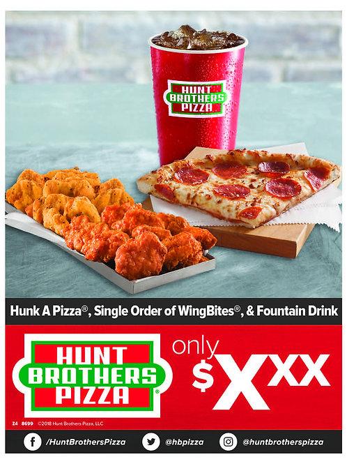 1013 | Hunk + Single Order WingBites® + Fountain Drink
