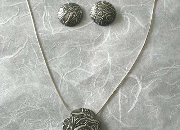 Handmade sterling silver set