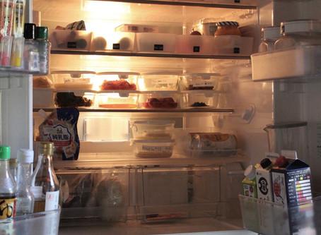 無印とイワキで整える、冷蔵庫収納。