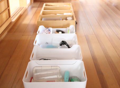 掃除記録 〜洗面所の引き出し・収納ケース〜