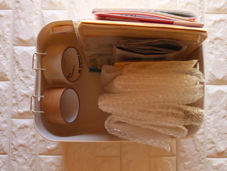 メルカリセットと、おすすめガムテープ収納♡