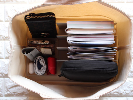 在宅ワークの持ち運びバッグ。