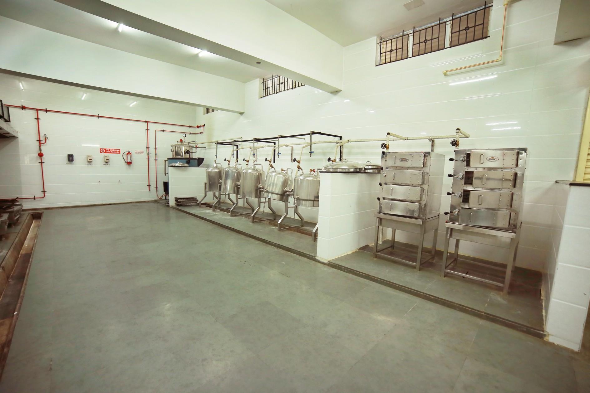 Kitchen steam area