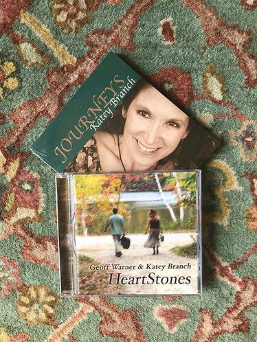 Journeys by Katey Branch or Heartstones by Katey Branch & Geoff Warner
