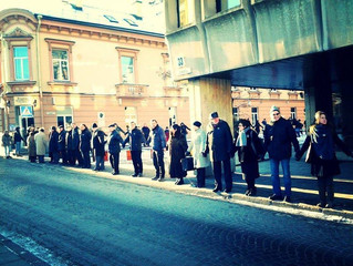 United For Ukraine: Human Chain Protest in Vilnius