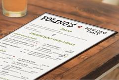 Kayla Hedman: Folino's Pizza Menu Design