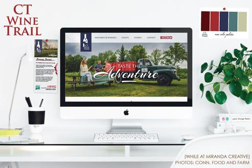Kayla Hedman: CT Wine Trail web design