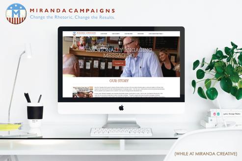 Kayla Hedman: Miranda Campaigns web design