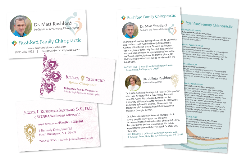 Kayla Hedman: Rushford Chiropractic collateral design