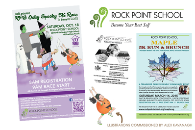 Kayla Hedman: Rock Point School graphic design