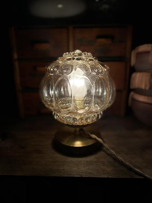 Lampe à poser avec globe années 50-60