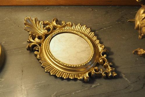 Petit miroir doré