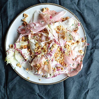 Pink Radicchio and Buttermilk Salad with
