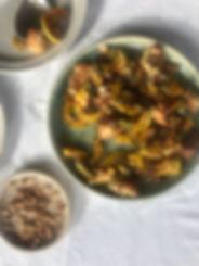 squash salad, autumn panzanella
