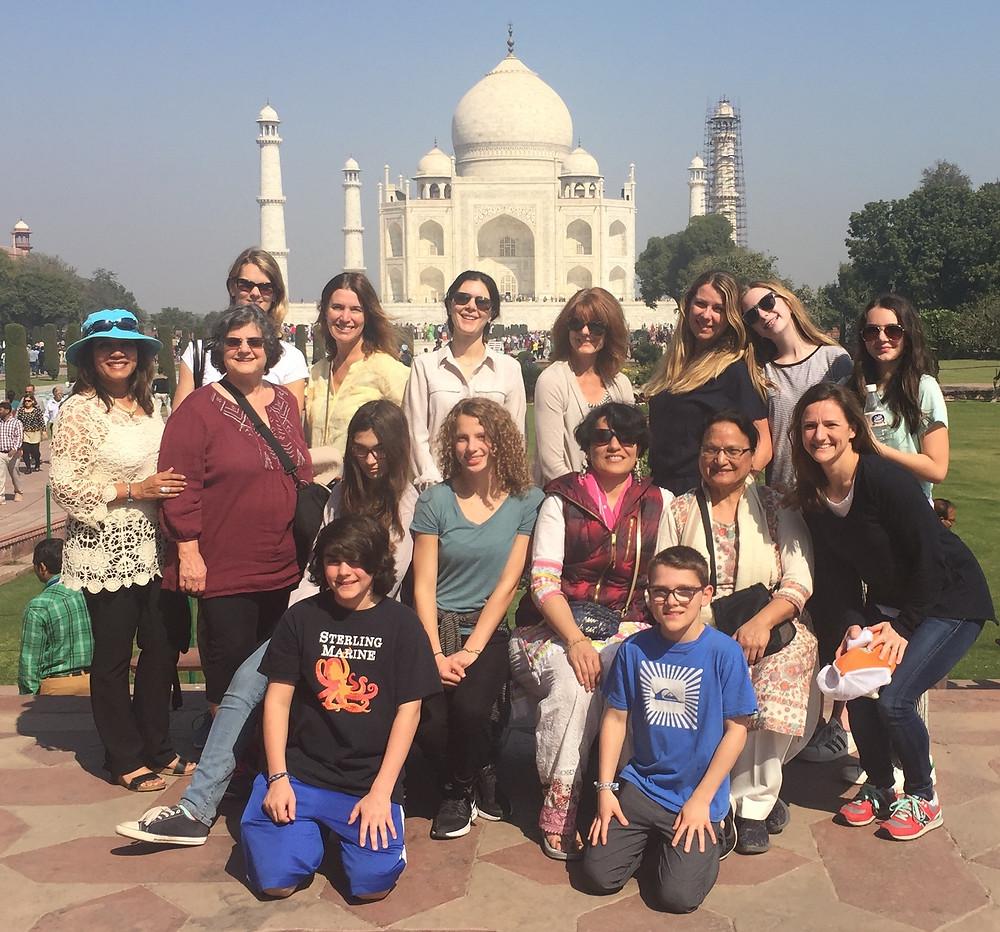 KAP Donor trip to India at Taj Mahal