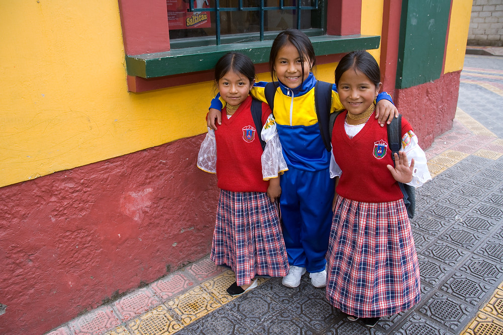 Ecuadorian School girls by Lisa Merrill