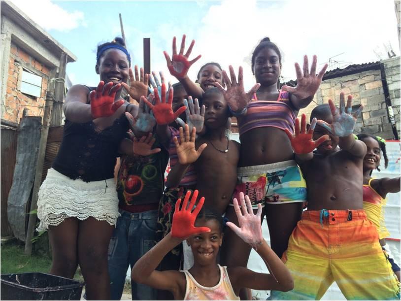 """Cuban youth at """"Akokán Los Pocitos"""""""