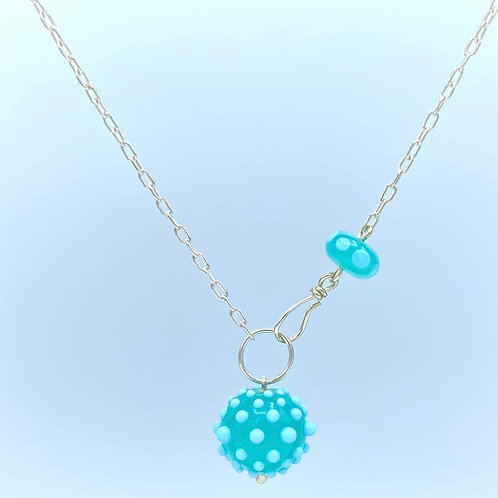 Kryptonite & Sky Blue Simply Elegant Necklace (SKU: SEN03)