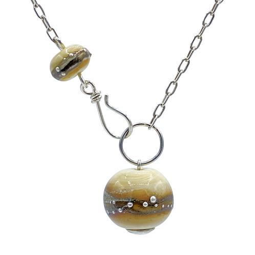 Ivory & Fine Silver Simply Elegant Necklace (SKU: SEN04)