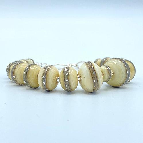 Ivory & Fine Silver Luscious Bracelet (SKU: BBI01)