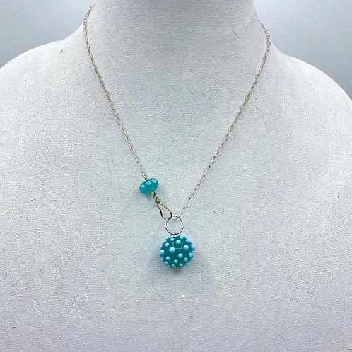 Kryptonite & Sky Blue Simply Elegant Necklace (SKU: SEN03)