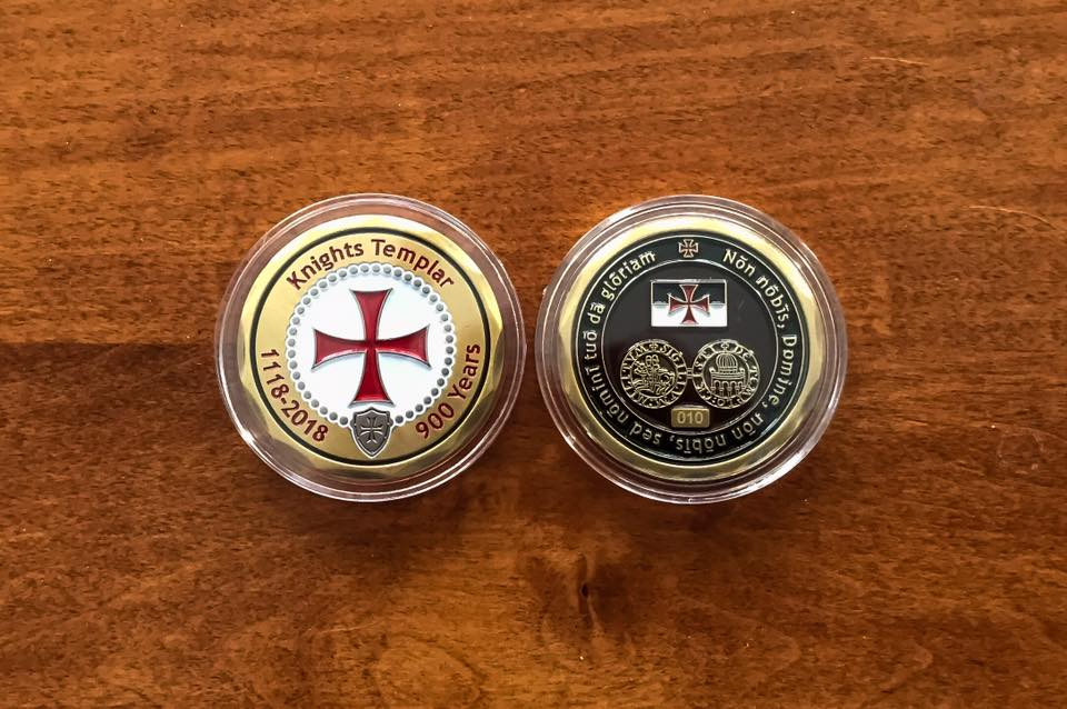 Knights Templar Commemorative Coin