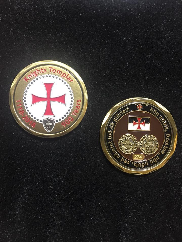 900 Year Anniversary Knights Templar Commemorative Coin