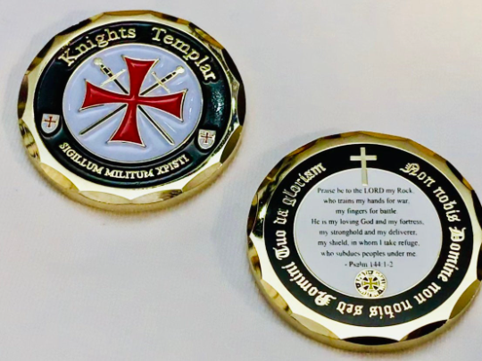Knights Templar Prayer Coin