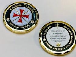 Knights Templar Prayer Coin
