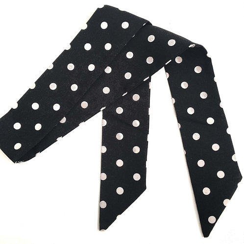 SISTER BOWS POLKA DOT HAIR SCARF