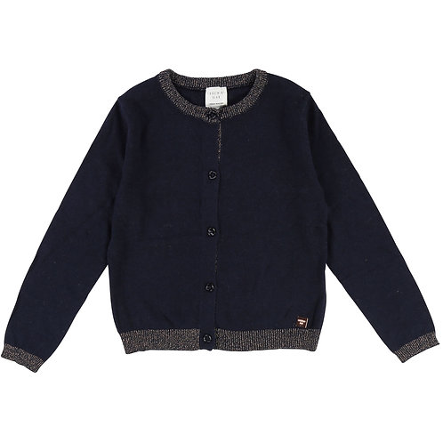 CARRÉMENT BEAU GIRLS NAVY CARDIGAN