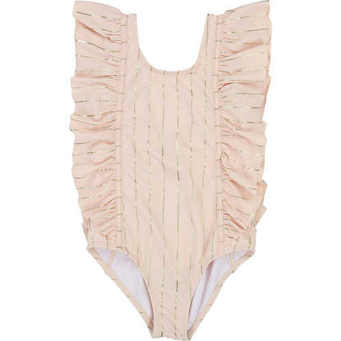 CARREMENT BEAU GIRLS PINK AND GOLD SWIMSUIT